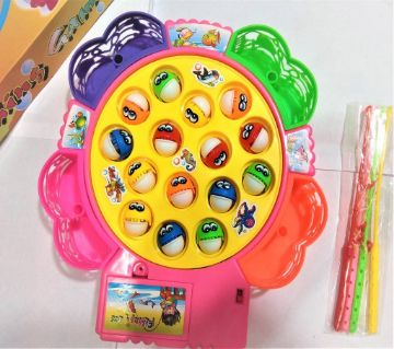 Electronic Musical Rotating Fishing Tie Game for Kids
