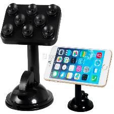 360 Degree Rotating Multifunction Placing Plate Car Mount Holder for Mobile Phone, GPS Navigation & Tablet PC (Black)