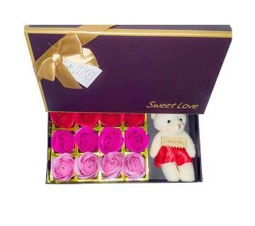 Teddy & Roses Valentine Gift Box
