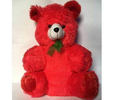 woolen Pink-Red Teddy Bear