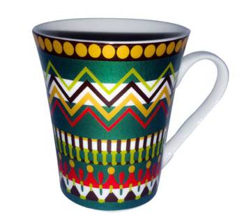 Royal Multi Color Stripe Mug