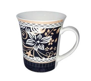Multi Color Flower Designed Ceramic Mug