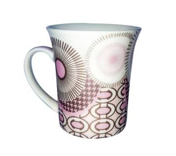 Pink Circled Mesmerizing Designed  Ceramic Mug