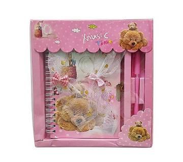 Cute Romantic Pen & Paper Set - Pink