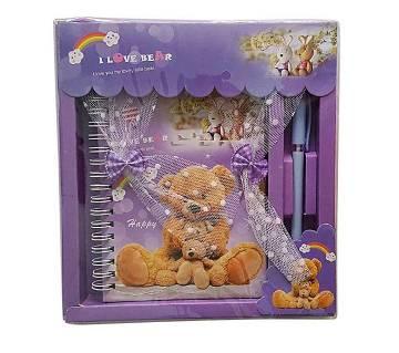 Cute Romantic Pen & Paper Set - Purple
