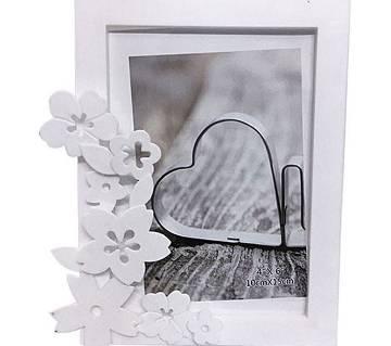 Beautiful wedding Photo Frame with Flower Design