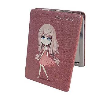 Girl In Pink Pocket Mirror for Girls