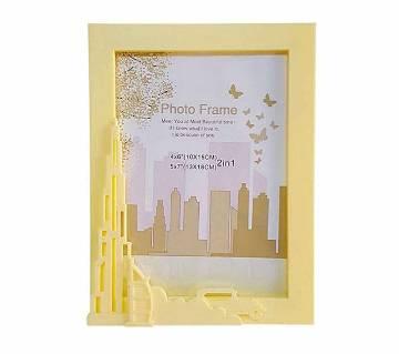 Plastic Urban ফটো ফ্রেম - Light Yellow Showpiece