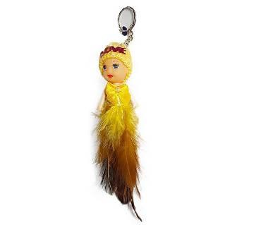 Cute Barbie Doll Fashion long কী রিং