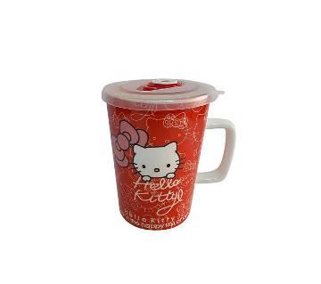 Hello Cute Kitty Ceramic জুস অ্যান্ড কফি মগ- রেড
