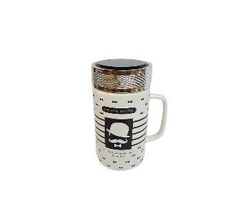 Stylish Hipstar Ceramic কফি মগ- Black & White