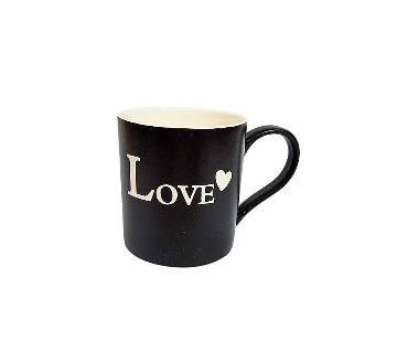 Simple Love Ceramic mug- Black