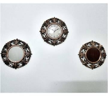1 Wall Clock & 2 Looking Glass