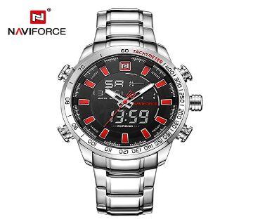 NAVIFORCE Men Sports Watches Mens Full Steel Quartz Digital Clock Man Waterproof Relogio Masculino রিস্টওয়াচ