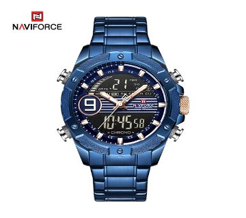 Naviforce মেনজ Quartz Luxury Sport Steel Digital Analog রিস্টওয়াচ