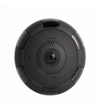 panoramic wifi IP Camera  Black