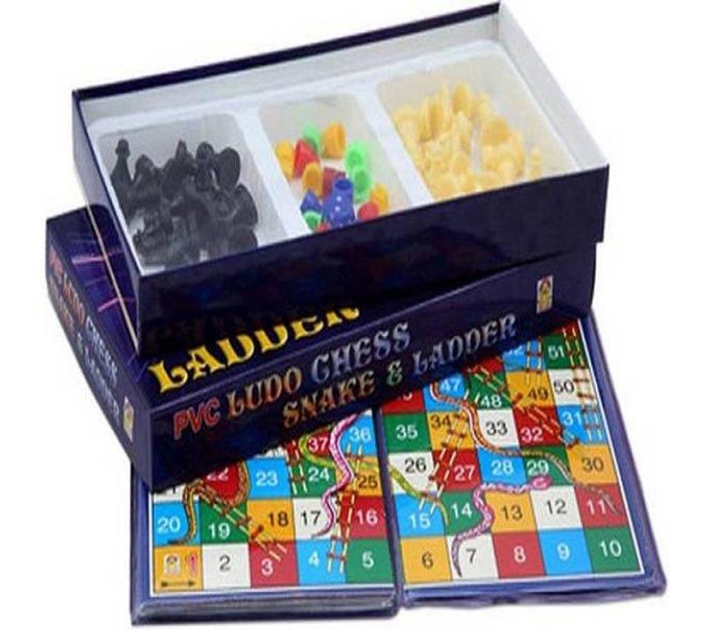 PVC Board Game-দাবা লুডূ সাপ 4 ধরণের জনপ্রিয় গেম বাংলাদেশ - 615782