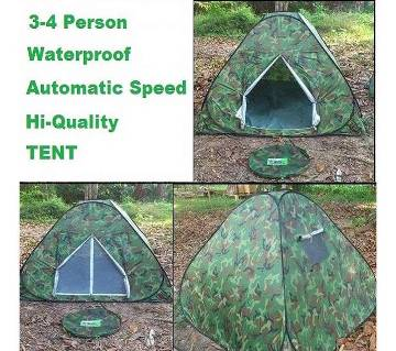 Waterproof 3-4 Person instant Folding Tent Pop Up
