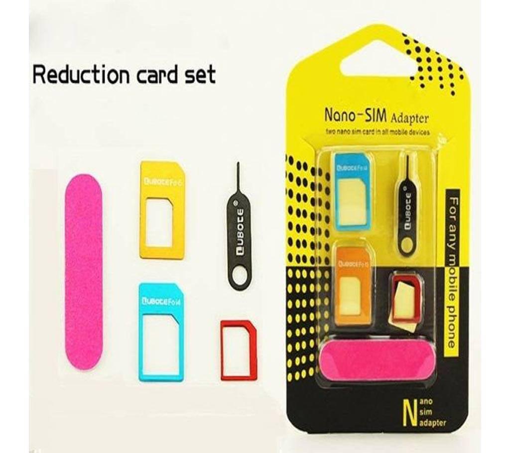 Nano Micro & Standard sim Aapter with Eject kit বাংলাদেশ - 615923