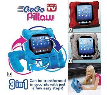 Multi functional 3-in-1 Travel Pillow iPod Holder