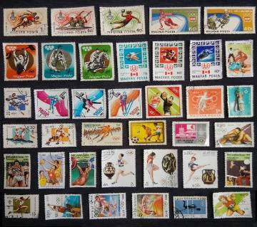 38 Pcs Olympic Games World Post Mark Postage Stamps