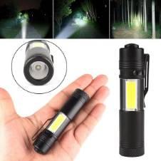 XPE COB LED Flashlight Mini Pocket Torch Light