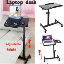 PORTABLE ADJUSTABLE FOLDING LAPTOP TABLE STAND TRAY