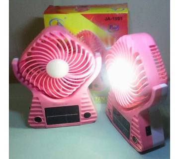 Solar Electric Duel Recharge Fan+Light 3 in 1