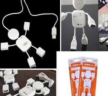 High Speed Human Shape robot 4 Port USB Hub