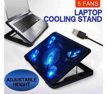 5 Fan Adjust Laptop Cooling Pad