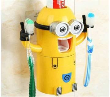 Minion Toothpaste Dispenser + Brush Holder.