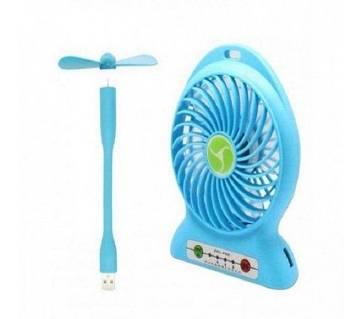 Rechargeable Mini Fan & USB Fan Combo