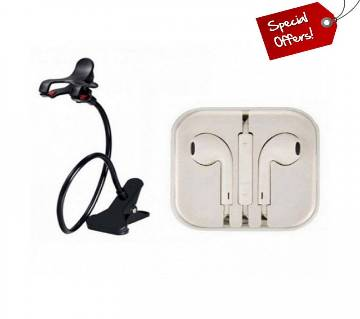 Combo offer 360 Rotate Mobile Stand +Apple earphone (copy)