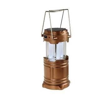 Rechargeable Solar Lamp & Power Bank - Golden