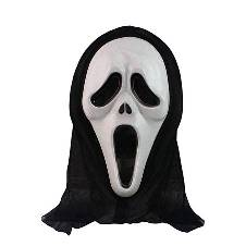 Ghost Hacker Mask - Black and White