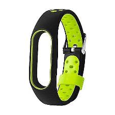 Xiaomi Silicone Strap Bracelet for Mi Band 2 - Black and Green
