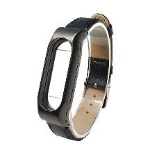 Mi Band 2 Wistband Metal Leather Strap Belt For Mi Band 2