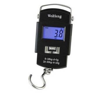 Portable Electronic Weight Scale - Black