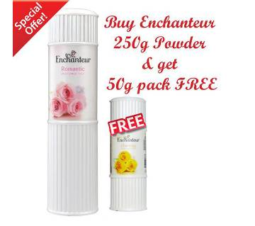 50g Talc FREE with 250g Enchanteur Romantic Talc