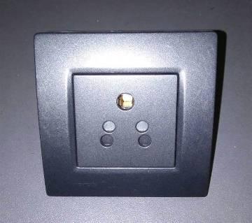 2-3 Pin Wall Socket, Black Color