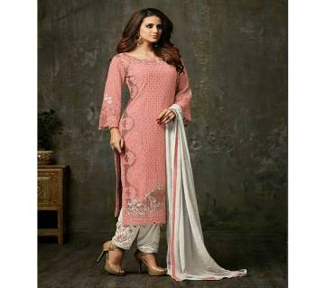 Original Pakistani Unstitched Embroidery Georgette Three pcs By MOHINI
