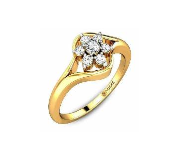 Valentine Diamond Gold Finger Ring