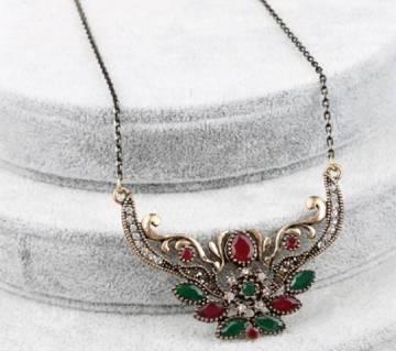 Gold Color Pendant Necklace
