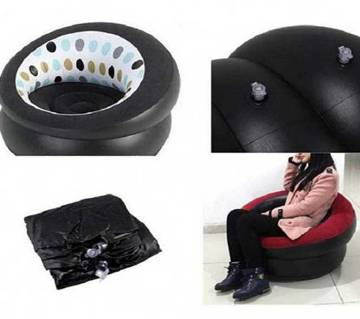 Flocked Inflatable Air Round Sofa
