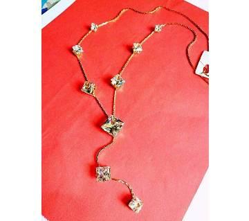 Diamond cut stone setting necklace বাংলাদেশ - 6180501