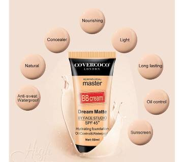 Covercoco Nude Makeup Cream Oil Control Waterproof Brightening Sunscreen SPF45 Master Magic Face BB Cream