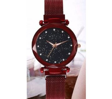 magnetic ladies watch red