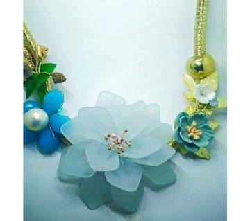 Floral Neckless - sky blue from Thailand