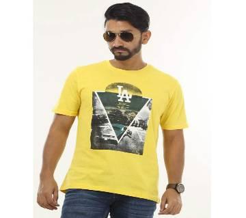 Mens t-shirt-LA (Yellow)