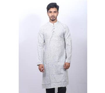 White Cotton panjabi for men